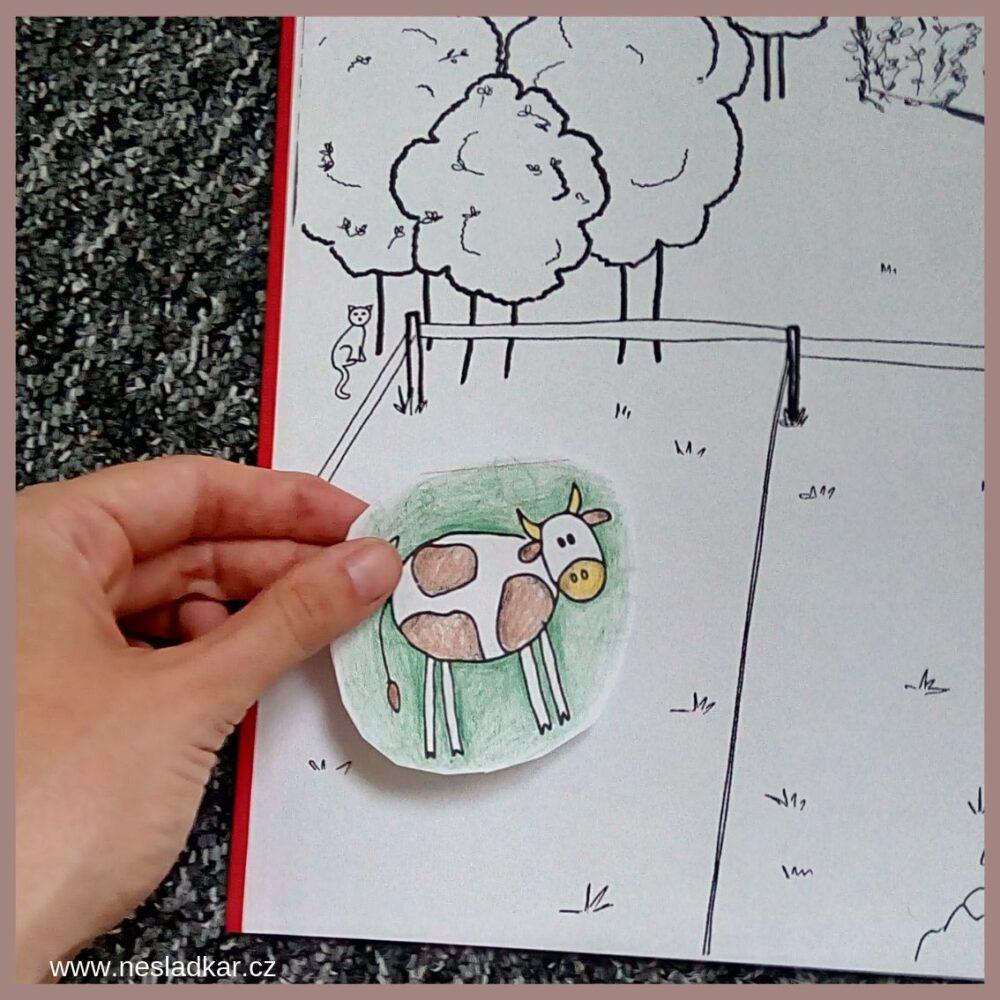 nesladkar lepeni vybarvené kravy z kalendare do leporela