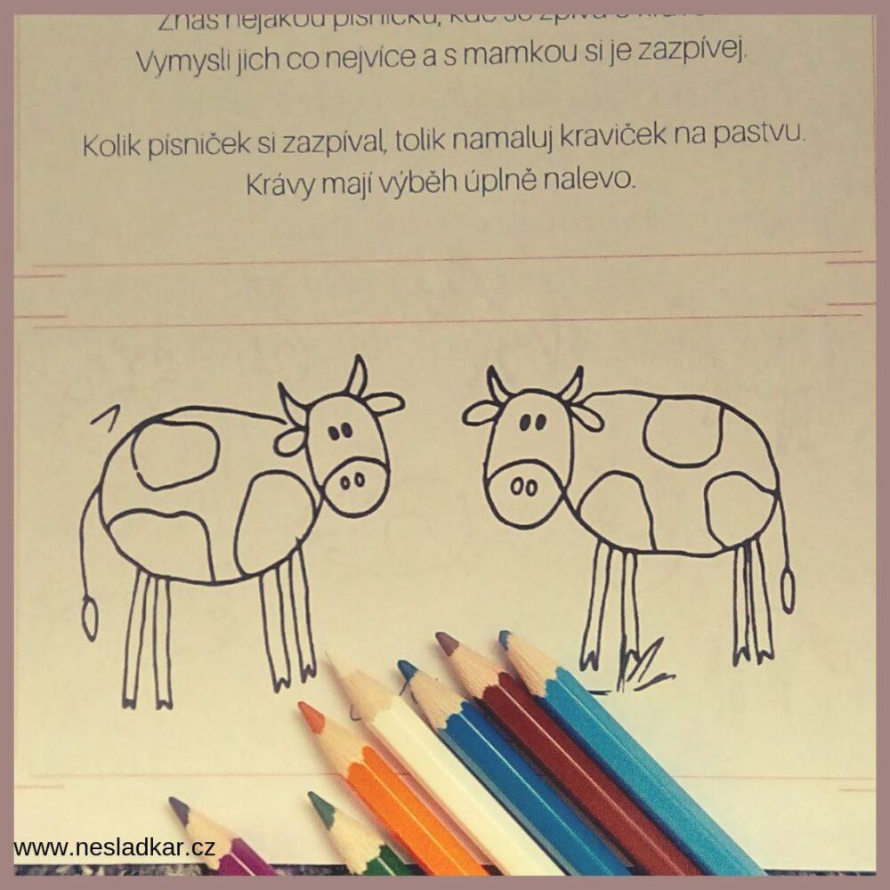 Ukázka kalendáře z Nesladkáře Farma - úkol s krávami