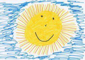 obrázek sluníčka nakreslený dítětem