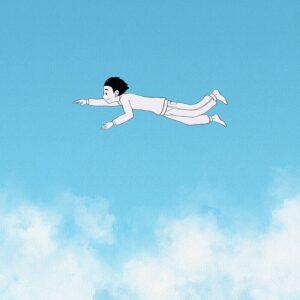 fantazie pomocí Nesladkáře - dítě létá na nebi