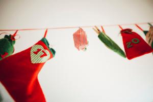 Adventní kalendář punčošky a pytlíčky