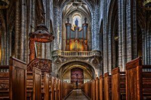 katedrála, křesťanství, adventní kalendář bez sladkostí